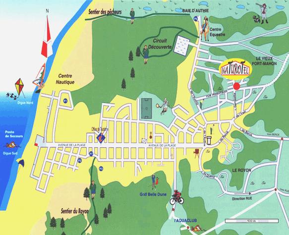 Plan de fort mahon plage notre situation dans la ville